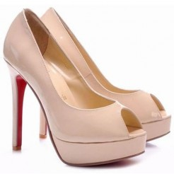 Replica Christian Louboutin Altadama 140mm Peep Toe Pumps Pink Cheap Fake Shoes