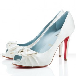 Replica Christian Louboutin Madame Butterfly 100mm Special Occasion Off White Cheap Fake Shoes