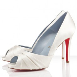 Replica Christian Louboutin Matrinana 100mm Special Occasion Off White Cheap Fake Shoes