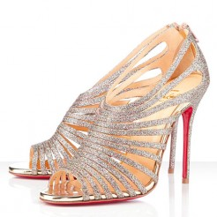 Replica Christian Louboutin Multibrida 100mm Peep Toe Pumps Multicolor Cheap Fake Shoes