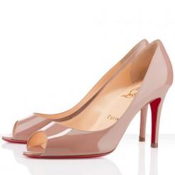 Replica Christian Louboutin You You 80mm Peep Toe Pumps Nude Cheap Fake Shoes