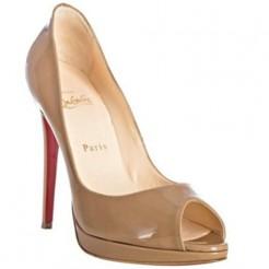 Replica Christian Louboutin Yolanda 120mm Peep Toe Pumps Camel Cheap Fake Shoes