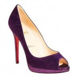 Replica Christian Louboutin Yolanda 120mm Peep Toe Pumps Purple Cheap Fake Shoes