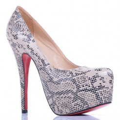 Replica Christian Louboutin Daffodile Lace 160mm Platforms Grey Cheap Fake Shoes