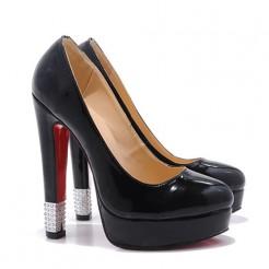 Replica Christian Louboutin Embellished 140mm Pumps Black Cheap Fake Shoes