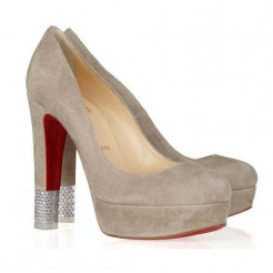 Replica Christian Louboutin Embellished 140mm Pumps Camel Cheap Fake Shoes
