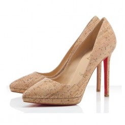 Replica Christian Louboutin Pigalle Plato 120mm Pumps Natural Cheap Fake Shoes