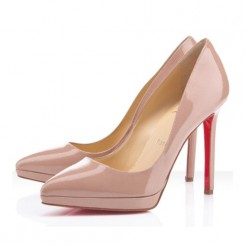 Replica Christian Louboutin Pigalle Plato 120mm Pumps Nude Cheap Fake Shoes