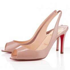 Replica Christian Louboutin You You 80mm Slingbacks Nude Cheap Fake Shoes