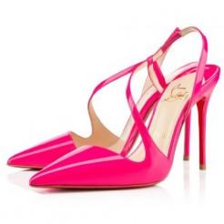 Replica Christian Louboutin June 100mm Slingbacks Rose Matador Cheap Fake Shoes