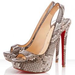 Replica Christian Louboutin Cheyenne 140mm Slingbacks Roccia Cheap Fake Shoes