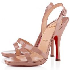 Replica Christian Louboutin Fine Romance 120mm Slingbacks Nude Cheap Fake Shoes