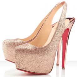 Replica Christian Louboutin Dafsling 160mm Slingbacks Nude Cheap Fake Shoes