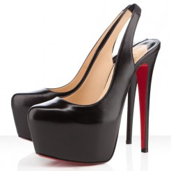 Replica Christian Louboutin Dafsling 160mm Slingbacks Black Cheap Fake Shoes