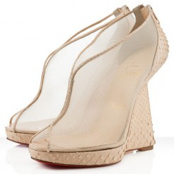 Replica Christian Louboutin Janet 120mm Wedges White Cheap Fake Shoes