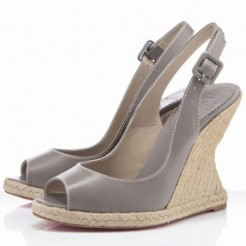 Replica Christian Louboutin You Love 120mm Wedges Taupe Cheap Fake Shoes