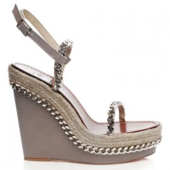 Replica Christian Louboutin Macarena 120mm Wedges Taupe Cheap Fake Shoes
