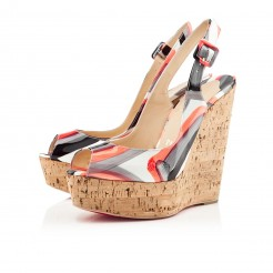 Replica Christian Louboutin Une plume 140mm Wedges Multicolor Cheap Fake Shoes
