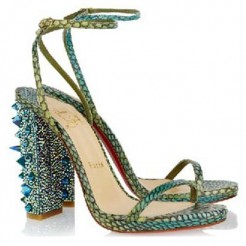 Replica Christian Louboutin Au Palace 120mm Sandals Green Cheap Fake Shoes
