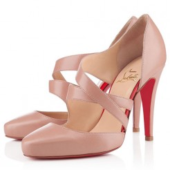 Replica Christian Louboutin Citoyenne 100mm Sandals Nude Cheap Fake Shoes