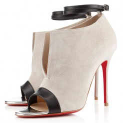 Replica Christian Louboutin Diptic 100mm Sandals Stone Cheap Fake Shoes