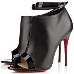Replica Christian Louboutin Diptic 100mm Sandals Black Cheap Fake Shoes