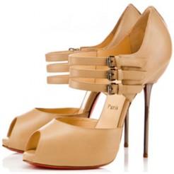 Replica Christian Louboutin Fibbia 120mm Sandals Black Cheap Fake Shoes