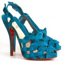 Replica Christian Louboutin Larissandale 120mm Sandals Blue Cheap Fake Shoes