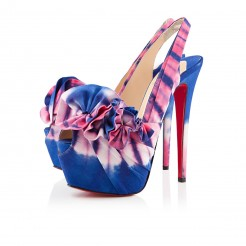 Replica Christian Louboutin High Boubou 160mm Platforms Blue/Pink Cheap Fake Shoes