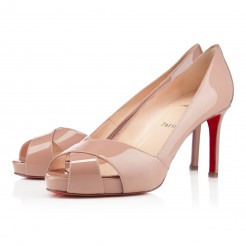Replica Christian Louboutin Shelleymat 80mm Pumps Nude Cheap Fake Shoes