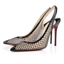 Replica Christian Louboutin Nu et Nu 100mm Sandals Black Cheap Fake Shoes