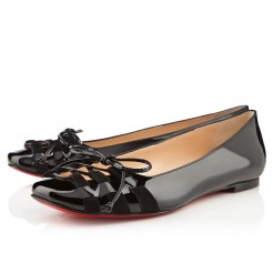 Replica Christian Louboutin Mostola Ballerinas Black Cheap Fake Shoes