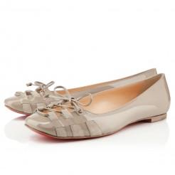 Replica Christian Louboutin Mostola Ballerinas Stone Cheap Fake Shoes