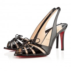 Replica Christian Louboutin Corsetica 80mm Sandals Black Cheap Fake Shoes
