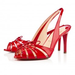 Replica Christian Louboutin Corsetica 80mm Sandals Red Cheap Fake Shoes