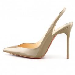 Replica Christian Louboutin Flueve 120mm Slingbacks Grege Cheap Fake Shoes