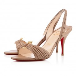 Replica Christian Louboutin Vanestic 80mm Sandals Taupe Cheap Fake Shoes