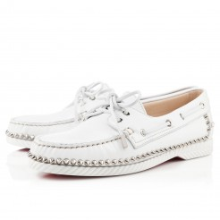 Replica Christian Louboutin Steckel Loafers White Cheap Fake Shoes
