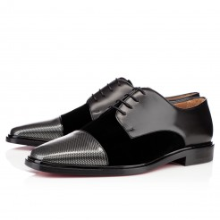Replica Christian Louboutin Bruno Orlato Loafers Carbone Cheap Fake Shoes