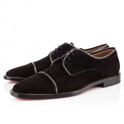 Replica Christian Louboutin Bruno Zip Loafers Black Cheap Fake Shoes