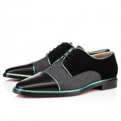 Replica Christian Louboutin Bruno Orlato Loafers Black/Grey Cheap Fake Shoes
