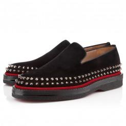 Replica Christian Louboutin Fredapoitiers Loafers Black Cheap Fake Shoes