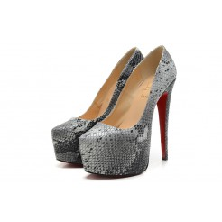 Replica Christian Louboutin Daffodile 160mm Platforms Grey Cheap Fake Shoes