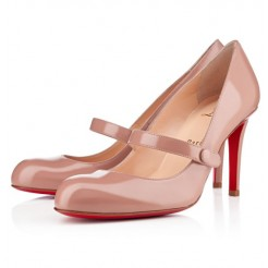 Replica Christian Louboutin Wallis 80mm Pumps Nude Cheap Fake Shoes