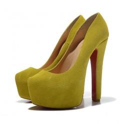 Replica Christian Louboutin Daffy 160mm Pumps Chartreuse Cheap Fake Shoes