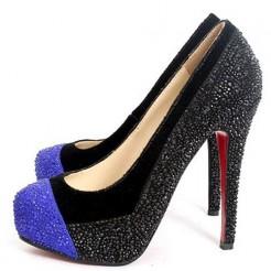 Replica Christian Louboutin Calypso 140mm Pumps Blue Cheap Fake Shoes