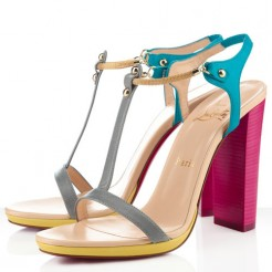 Replica Christian Louboutin Sylvieta 120mm Sandals Hot Pink/Gold Cheap Fake Shoes