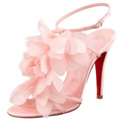 Replica Christian Louboutin Petal 70mm Sandals Pink Cheap Fake Shoes