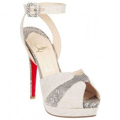 Replica Christian Louboutin Double Moc 120mm Sandals Taupe Cheap Fake Shoes