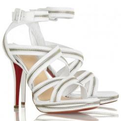 Replica Christian Louboutin Rodita 120mm Sandals White Cheap Fake Shoes